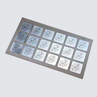 Adhesius sobre paper de plata