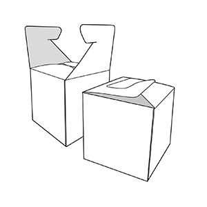 caixa cub creuat. Envasos personalitzats
