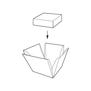 caixa cub desplegable amb tap.Envasos personalitzats