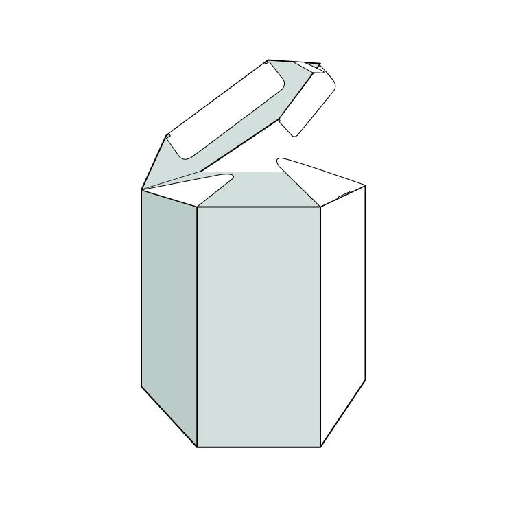 caixa hexagonal. Envasos personalitzats