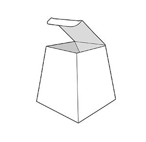 caixa trapezi. Envasos personalitzats