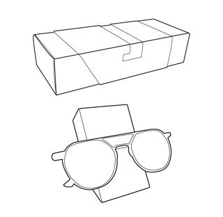 caixa per ulleres. Envasos personalitzats
