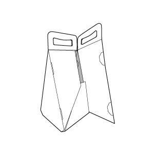 Caixa triangular nança