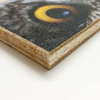 Material rígid de fusta impresa. Materials ecològics